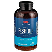 H-E-B Fish Oil 1000 mg Omega-3 Softgels