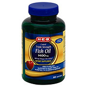 H-E-B Fish Oil 1400mg Triple Strength Enteric