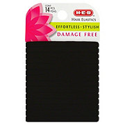 H-E-B Flat Damage Free Black Hair Elastics
