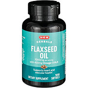 H-E-B Flaxseed Oil 1000 mg Softgels