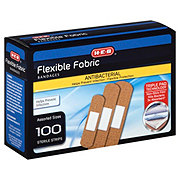 H-E-B Flexible Fabric Bandages, Assorted Sizes