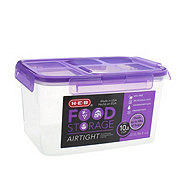 H-E-B Flip Top Purple 10.8 Cup Canister