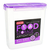 H-E-B Flip Top Purple 15.3 Cup Canister
