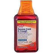 H-E-B Flu Relief Therapy Daytime Severe Cold And Cough Cherry Flavor