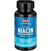 H-E-B Flush Free Niacin 500 mg Capsules