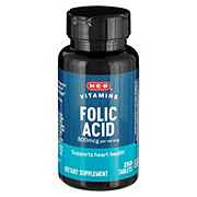 H-E-B Folic Acid 800 mcg Tablets