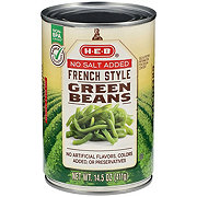 H-E-B French Style No Salt Added Green Beans