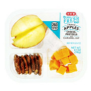 H-E-B Fresh Apples with Pretzel, Cheese Bites, and Caramel Dip