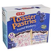 H-E-B Frosted Blueberry Toaster Pastries Value Pack
