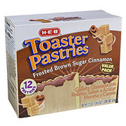 H-E-B Frosted Brown Sugar Cinnamon Toaster Pastries Value Pack