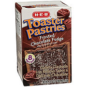 H-E-B Frosted Chocolate Fudge Toaster Pastries