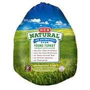 H-E-B Frozen Texas Raised Natural Whole Young Turkey 20-24 lb