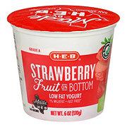 H-E-B Fruit on the Bottom Strawberry Low Fat Yogurt