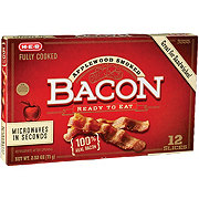 H-E-B Fully Cooked Applewood Bacon, Thick Cut
