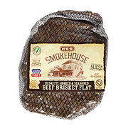 H-E-B Fully Cooked Brisket Flat Sliced, Mesquite
