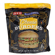 H-E-B Fully Cooked Cheese Burger Patties