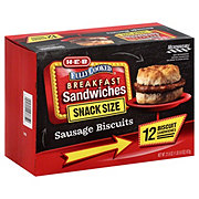 H-E-B Fully Cooked Family Pack Sausage & Biscuits