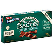 H-E-B Fully Cooked Hardwood Smoked Turkey Bacon