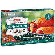 H-E-B Fully Cooked Sausage Cheddar & Jalapeno Kolaches