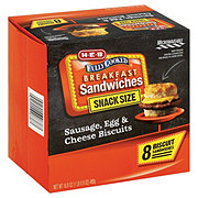 H-E-B Fully Cooked Sausage Egg and Cheese Biscuits