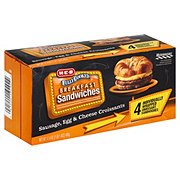 H-E-B Fully Cooked Sausage Egg and Cheese Family Pack Croissants