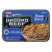 H-E-B Fully Cooked Seasoned Ground Beef