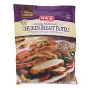 H-E-B Fully Cooked Sliced Seasoned Chicken Breasts Fajitas