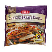 H-E-B Fully Cooked Sliced Seasoned Texas Size Chicken Breast Fajitas