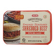 H-E-B Fully Cooked Smoked Seasoned Shredded Beef