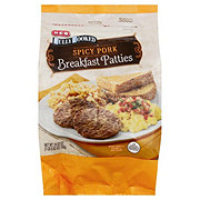 H-E-B Fully Cooked Spicy Pork Sausage Patties