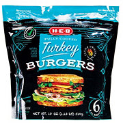 H-E-B Fully Cooked Turkey Burgers