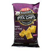 H-E-B Garlic & Herb Baked Pita Chips