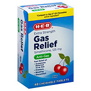 H-E-B Gas Relief Extra Strength Chewable, Cherry Creme