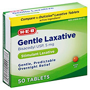 H-E-B Gentle Laxative 5 mg Tablets