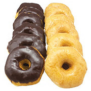 H-E-B Glazed and Chocolate Covered Donuts