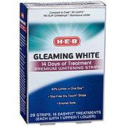 H-E-B Gleaming White Premium Whitening Strips