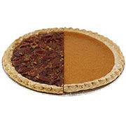 H-E-B Gourmet Scratch 1/2 Pumpkin 1/2 Pecan Pie