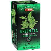 H-E-B Green Tea with Citrus Tea Bags