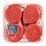 H-E-B Ground Chuck 1/3 lb Beef Patties Club Pack