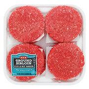 H‑E‑B Ground Sirloin 1/3 lb Beef Patties 90% Lean, Value