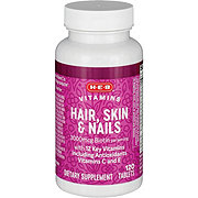 H-E-B Hair Skin and Nails Dietary Supplement Caplets