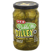 H-E-B Hamburger Dill Pickle Chips