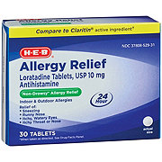 H-E-B HEB 24HR Allergy Loratadine 10MG Tablets