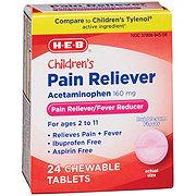 H-E-B HEB Children's Pain Reliever Bubble Gum Flavor
