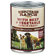 H-E-B Heritage Ranch Beef & Vegetables Cuts in Gravy Dog Food
