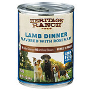 H-E-B Heritage Ranch Wet Dog Food, Lamb Dinner Flavored with Rosemary