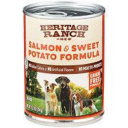 H-E-B Heritage Ranch Wet Dog Food, Salmon & Sweet Potato Formula