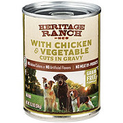H-E-B Heritage Ranch with Chicken & Vegetable Cuts in Gravy Dog Food