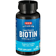H-E-B High Potency Biotin 5000 mcg Softgels