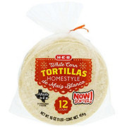 H-E-B Homestyle White Corn Tortillas